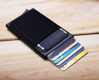 RFID Wallet Blocking Men Aluminum ID Credit Card Holder Pop Up Coin Mini Pocket
