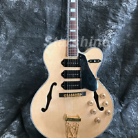 Hollow Body Electric Guitar P90 Pickups Gold Hardware Maple Top Grover Tuner