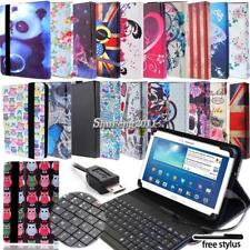 Leather Stand Cover Case With Keyboard For Various Samsung Galaxy Tab 3 4 Tablet