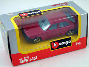 B Burago 4158 BMW 535i 1/43 Die-Cast Made IN Italy Modélisme Static
