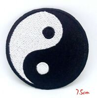 Yin Yang Symbol Logo Iron or Sew on Embroidered Patch Badge #314