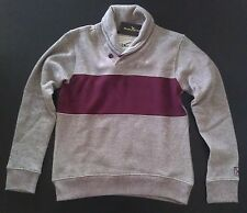 Marc Ecko Unltd Cut & Sew Gray Burgundy High Quality Sweatshirt Size Small NEW!