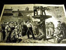 Newcastle Delaware Black Americana WHIPPING POST PUBLIC PUNISHMENT 1882 Lg Print