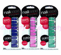 NAILEASE INSTANT MANICURE NAIL WRAPS VARNISH POLISH STRIPS RED PINK GLITTER