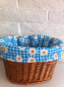 BICYCLE BASKET LINER BLUE DAISY CRUSIER BIKES !