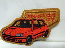 Aufnäher Aufbügler Patch Renault Clio 16V - 6 x 11,5 cm