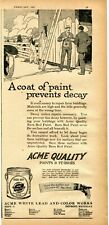 1921 Print Ad of ACME White Lead & Color Works Barn Red Paint