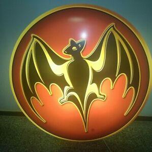 Bacardi Rum Fledermaus Logo XXXL Leuchtreklame Durchmesser 140 cm - NEU