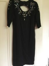 H & M , Little Black Embellished  Bodycon Dress ,  size 12