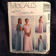 McCALLS 9684 Girls Formal Dress~Bridal~Wedding PATTERN Sizes 7-8-10, Uncut