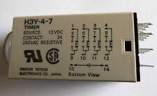 Omron H3Y-4-7 12VDC temporizador de retraso