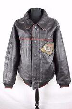 Vintage 1975 Avirex Gamblers Club flight Pilot Biker Motorcycle Leather Jacket L