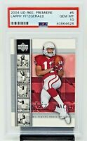 2004 Upper Deck Premiere Cardinals LARRY FITZGERALD Rookie Card PSA 10 GEM MINT
