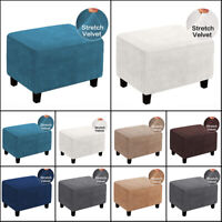 Hot Sofa Couch Protector Footstool Cover Velvet Ottoman Storage Slipcover