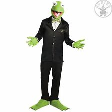 Kermit Set 3-tlg. Halbmaske Handschuhe Schuhstulpen Frosch Fasching Karneval NEU
