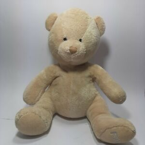 FAO Schwarz TAN TEDDY BEAR BEAN FILLED Stuffed Animal PLUSH SOFT TOY Schwartz