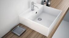 Lavabo bagno da appoggio lavandino quadrato 46x46cm in ceramica lavello Athene