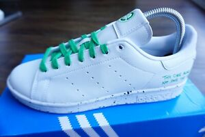 ADIDAS Stan Smith Sustainable Mens Trainers, White/Green - Size 6