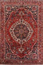 Semi-Antique Designer Select Geometric Bakhtiari Area Rug Hand-Knotted Wool 7x11