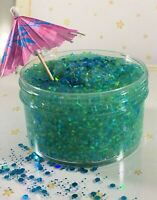 "SCENTED Bingsu Clear Slime ""PERSIAN PARADISE"" Green Crunchy Umbrella 6 8 oz Size"