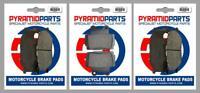 Front & Rear Brake Pads (3 Pairs) for Yamaha XJ600 S Diversion 98-03