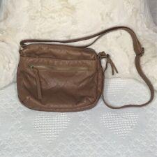 Bueno Womens Messenger Bag Brown Adjustable Strap Zipper Compartment Small Tote