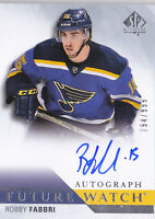 15-16 SP Authentic Robby Fabbri /999 Auto Rookie Future Watch Blues 2015