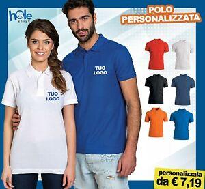 Polo personalizzate uomo donna t-shirt maglietta manica corta da lavoro cotone 3