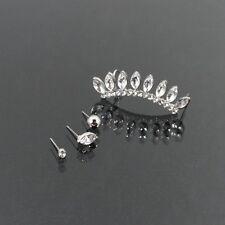 Silver and Crystal Teardrop FASHION Ear Cuff