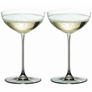Riedel Veritas Champagne Saucer / Moscato / Martini Glass (Set of 2) - 6449/9