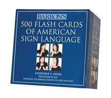 Barron's 500 Flash Cards of American Sign Language Free Shipping