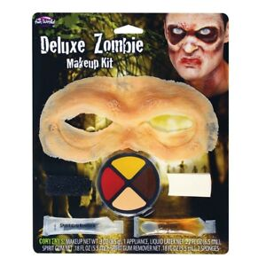 Deluxe Zombie Make Up Kit Halloween Horror Latex Adult Face Paint