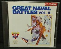 Great Naval Battles Vol. II 2  - PC Game CD ROM Disc, Case Mint Disc, Manual