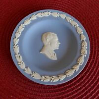 Vintage Rare Nixon #70 Wedgwood White On Blue Jasperware Miniature Plate 4.5""