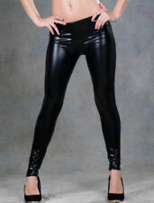 Faux Leather Regular Size Stretch Pants for Women