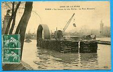 CPA: Paris - Crue de la Seine - Les travaux du tube Berlier - Le Pont Alexandre