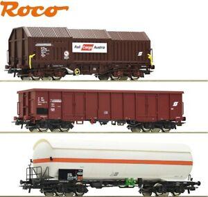 Roco H0 51322-2 Güterwagen-Set der ÖBB 3-teilig - NEU
