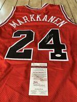 Lauri Markkanen Autographed/Signed Jersey COA Chicago Bulls