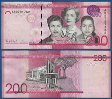 República dominicana en/Kildare Rep. 200 pesos dominicanos 2014 (2015) UNC p. New