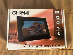 """Shomi LED Digital Photo Picture Viewer 7"""" Widescreen Display Frame 16:9"""