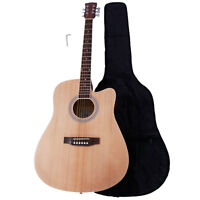 New 4 Colors 41 Inch Cutaway Folk Acoustic Guitar with Bag for Beginner