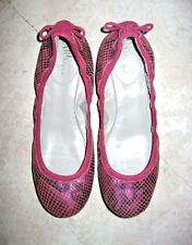 MARIA SHARAPOVA by COLE HAAN Metallic Pink  Leather Ballet Flats Size 6 B