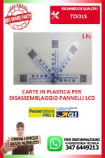 KIT DA 5X CARTE IN PLASTICA PER DISASSEMBLAGGIO PANNELLO LCD