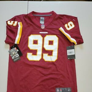 Nwt's Chase Young Nike Washington Redskins On Field Jersey Youth small
