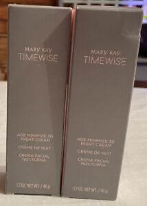 Mary Kay Timewise Age Minimize 3D Night Cream Normal to Dry 089007 lot of 2