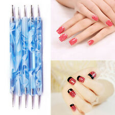 Marbleizing Dotting Manicure Tools Pen Nail Art Paint Dot Draw Pen Decor 2pc