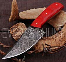 EVEREST HUNT CUSTOM HANDMADE DAMASCUS STEEL HUNTING CAMP SKINNER KNIFE B8-1643