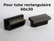 4 Bouchons embouts pour tube rectangulaire plastique PVC NOIR 60x30 mm