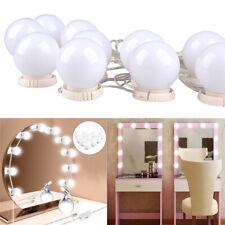 10pcs LED Maquillage Miroir Ampoule Fête Hollywood Coiffeuse Lampe Lumière Blanc