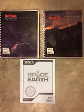 BJU Space & Earth Teachers Edition Books A and B,  and Test Answer Key, 8th Grad